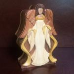 Ivory Angel wooden keepsake urn