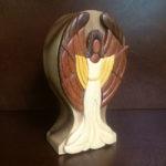 Wooden Memorial keepsake Ebony Angel