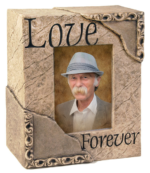 Custom memorial photo urn, memorial portrait urn