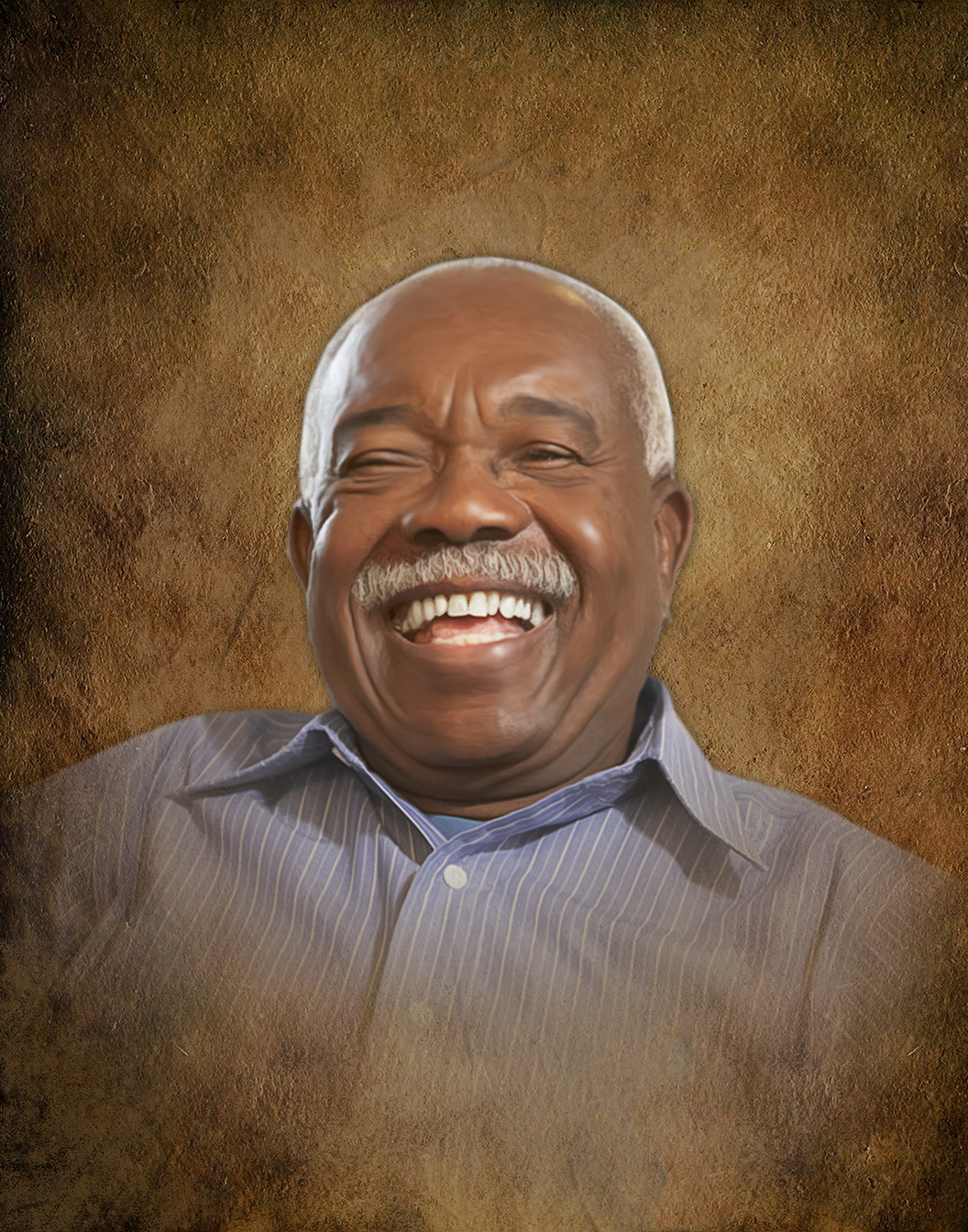 Memorial Portraits | Memory Portraits | Smiling Black Man